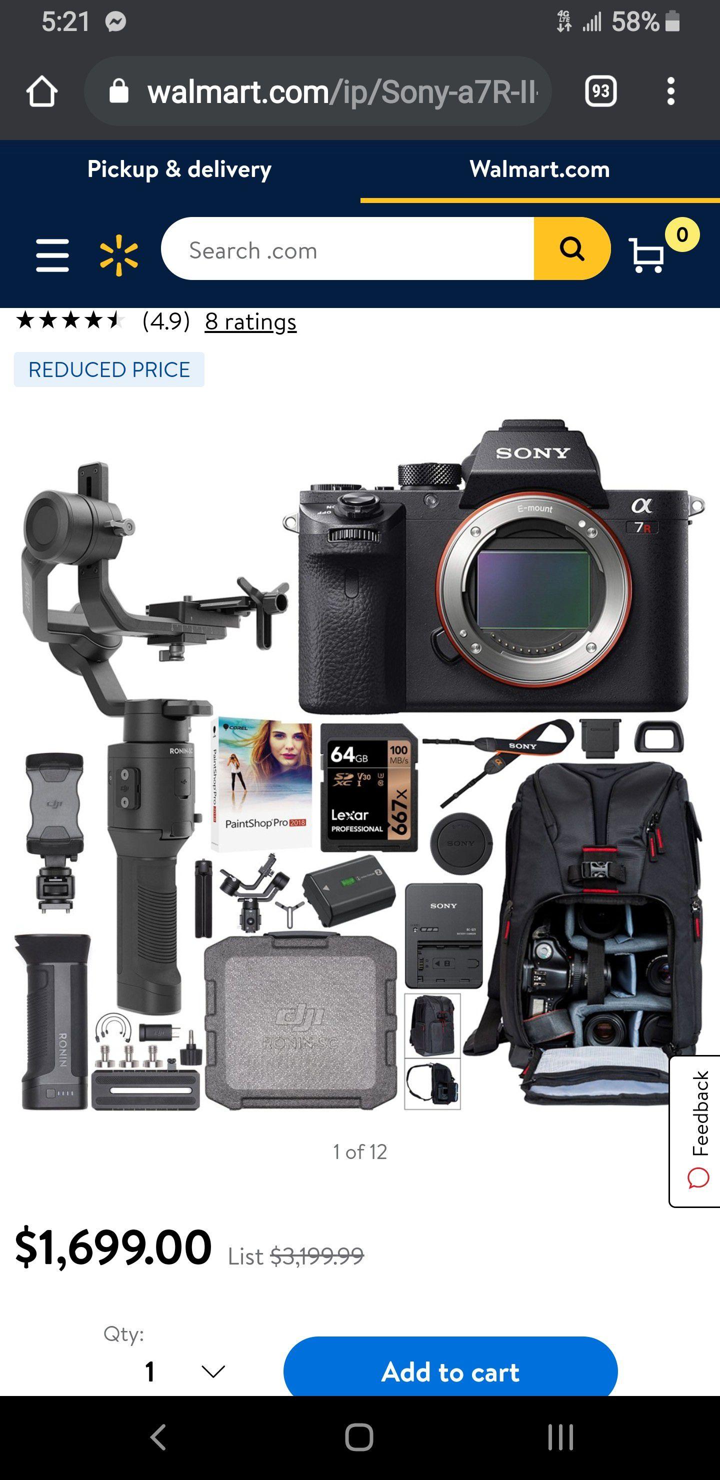 Sony Alpha A7 Digital Camera and Bag