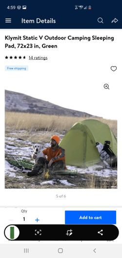 New Klymit Static V Outdoor Camping Sleeping Pad 73×23 In.. Below Retail Price 4left Retails For $55 Selling For $30each .. Thumbnail