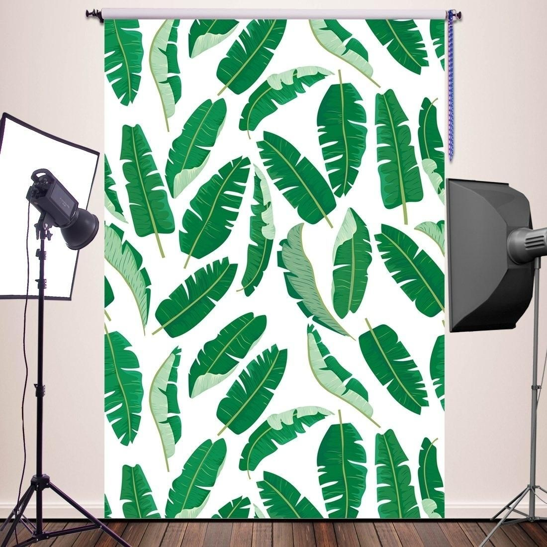 5x7ft Photography Backdrop Newborn Photo Props Baby Studio Props Photographer Photo Booth Banana palm leaves party