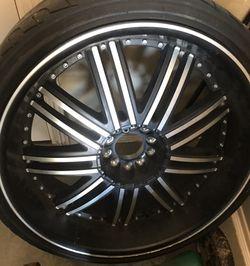 1 rim and tires Thumbnail