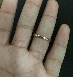 14k Rose Gold Diamond Wedding Band Thumbnail