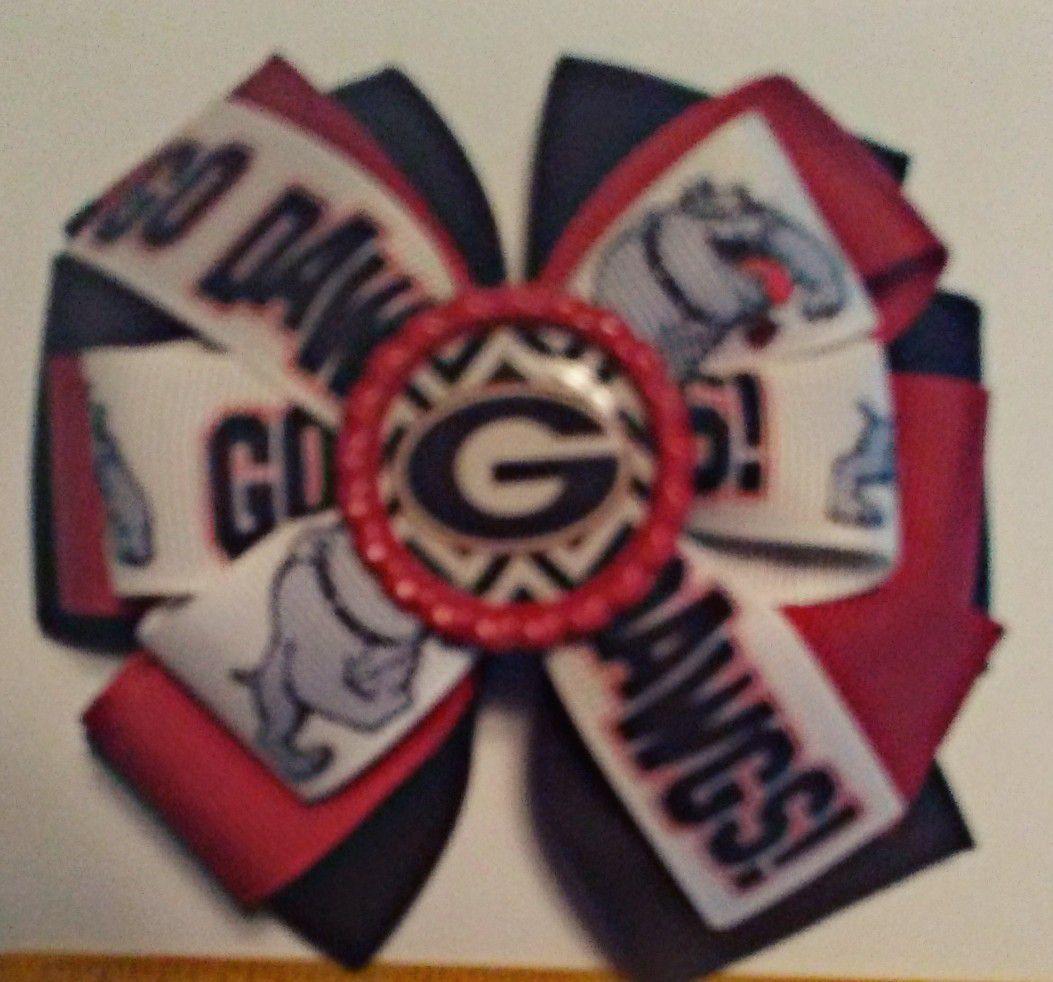 Georgia Bulldogs Handmade Hair Bows