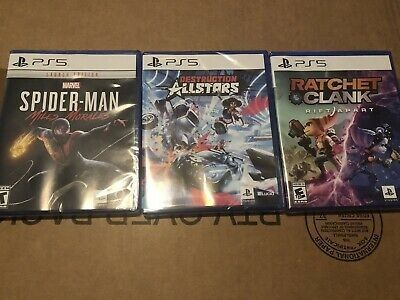 Sony Playstation 5 Console Disc Version with games and Controller Bundle