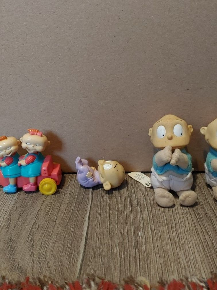 (LOT of 4 )1998 RUGRATS Nickelodeon Burger King Kids Club Meal Toys