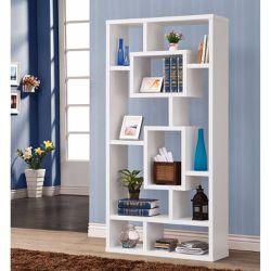 Fantastic Geometric Cubed Rectangular bookcase, White Thumbnail