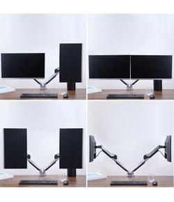 New - Dual Monitor Desk Mount - Aluminum  Thumbnail