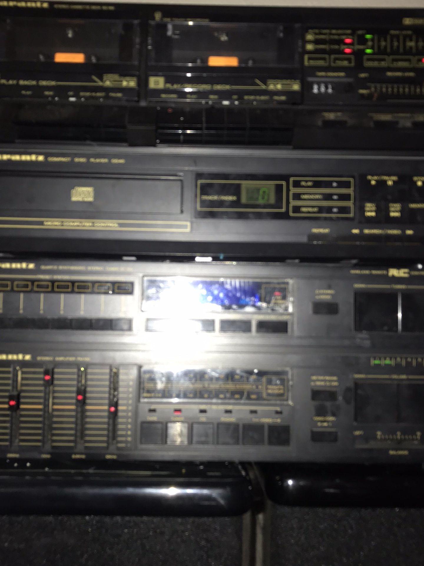Marantz Stereo,cassette,cd Player An Speakers