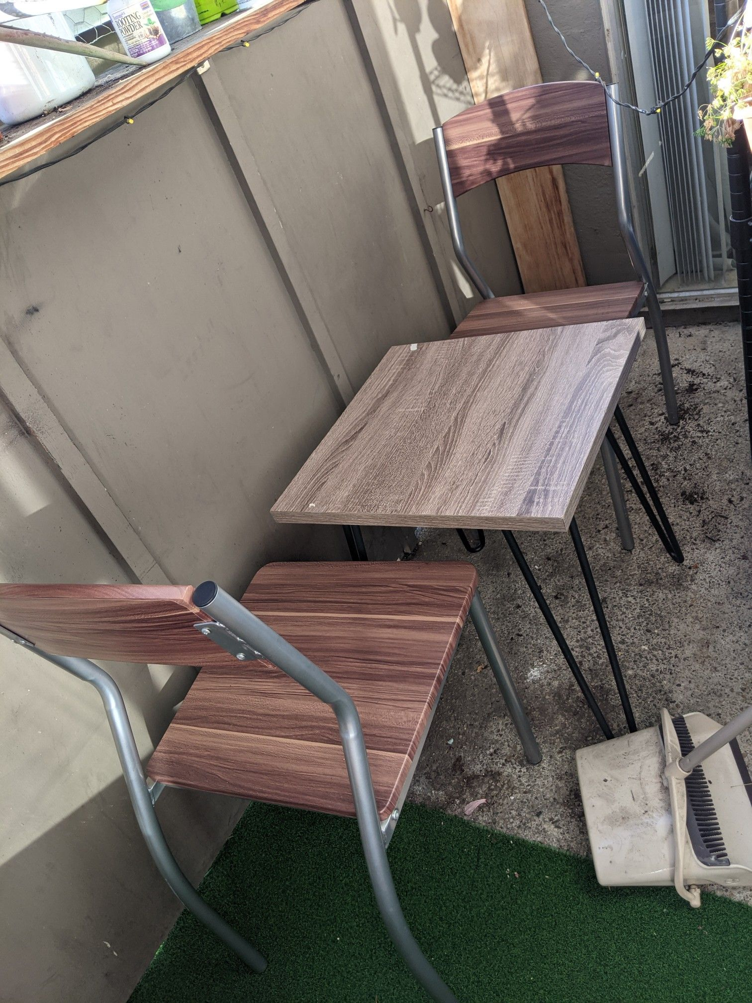 Patio furniture bistro table chairs