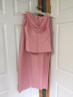 Formal Full length gown, shawl, and matching shoes. See all pictures. Gown Size 4 Thumbnail