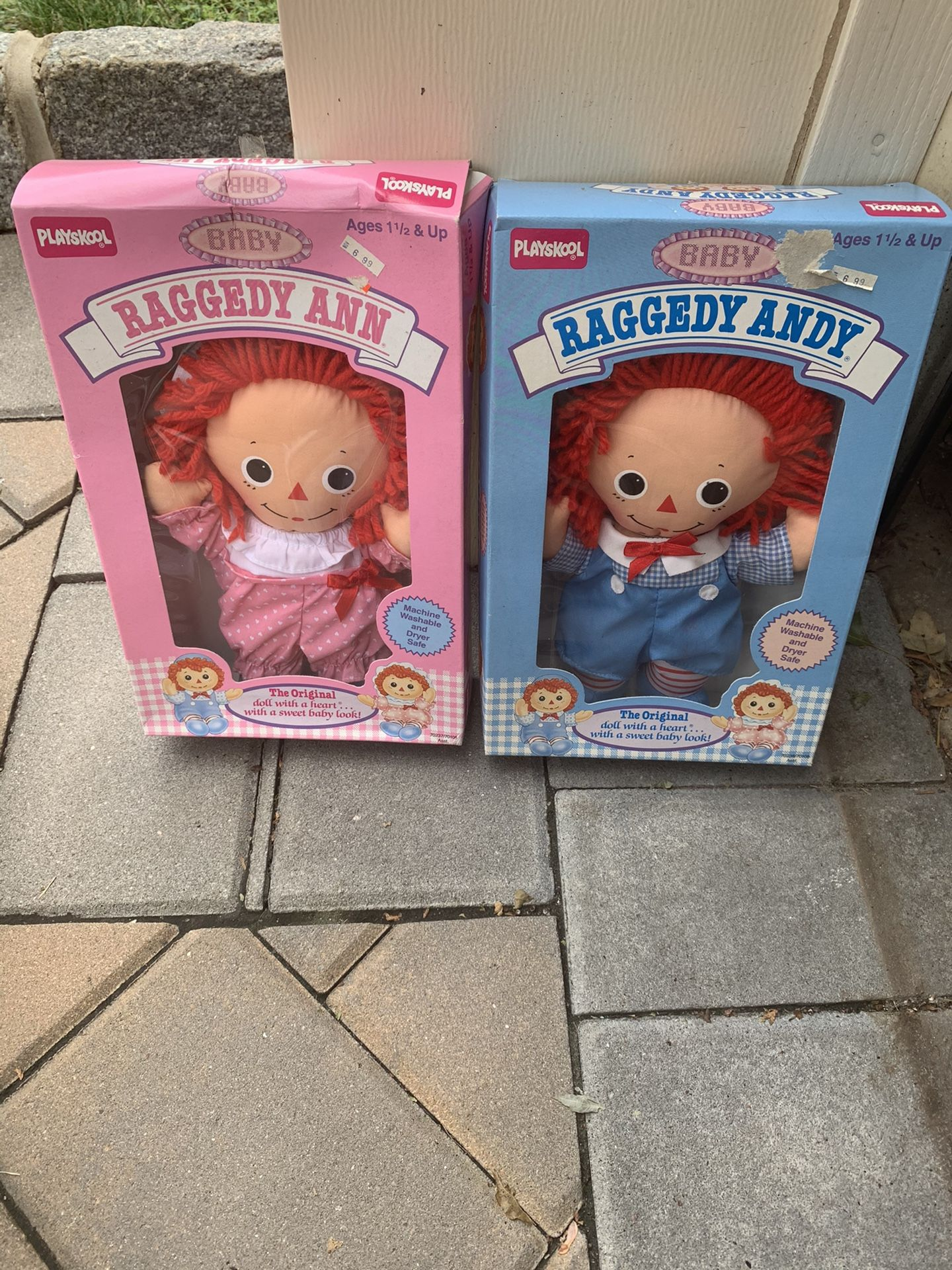 Baby Raggedy Ann and Andy Dolls