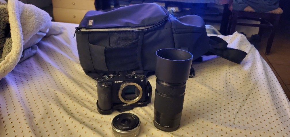 Sony A6500 4K VIDEO CAM  WITH 2.8/16 AND 55/210 LENS