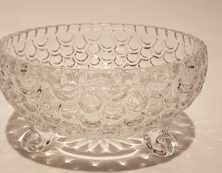 "Crystal Glass Fish Scale Bowl 3.75"" Thumbnail"