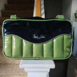 Trophy Queen Green Glitter Handbag & Matching Wallet Thumbnail
