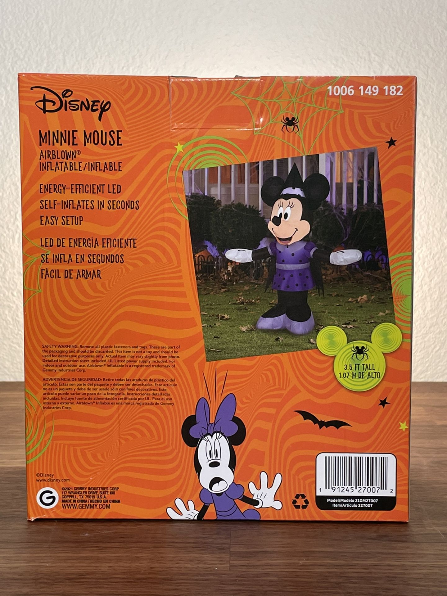 NEW Disney Minnie Mouse Airblown Inflatable Halloween Decoration