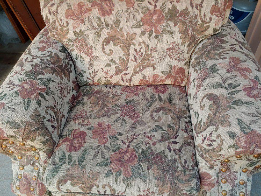 Nice comfortable chair and ottoman
