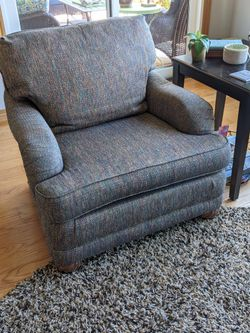Pair Of Bassett Chairs With Matching Ottoman Thumbnail