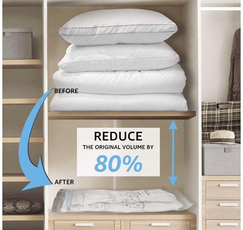Rainbow Craft 18-PACK Vacuum Storage Bags for Clothes - Space Saver Bags Vacuum Storage Bags Jumbo for Comforters and Blankets - Storage Bags Vacuum S