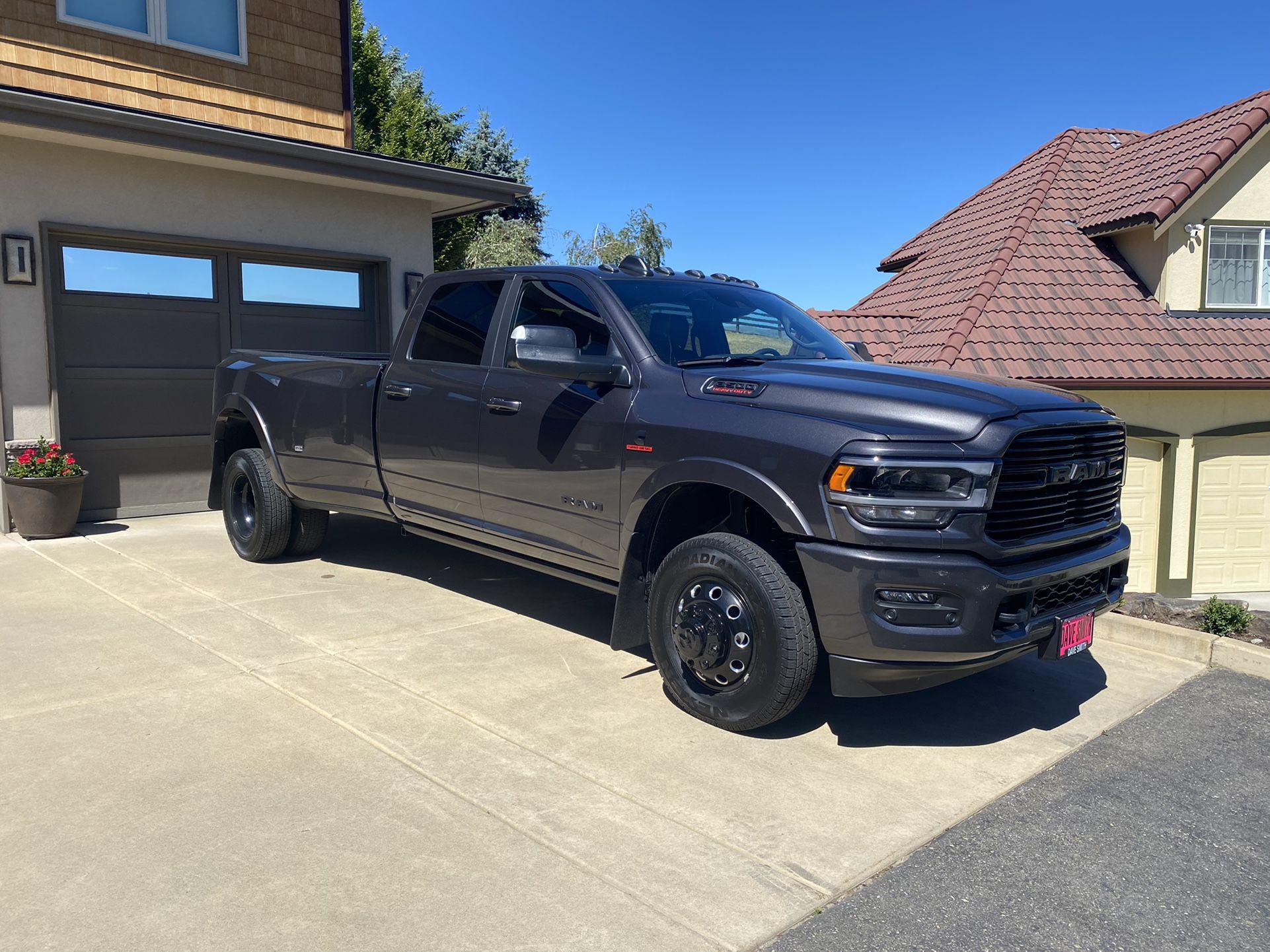 RAM OEM Alcoa Factory Black Dually Wheels and Tires