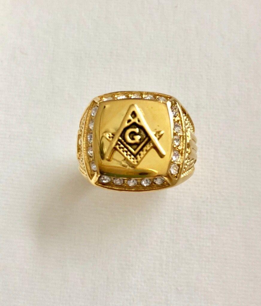 Men's •Masonic Free Mason Signet• Ring