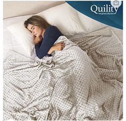 Quility 30lb Weighted Blanket Ivory King Thumbnail