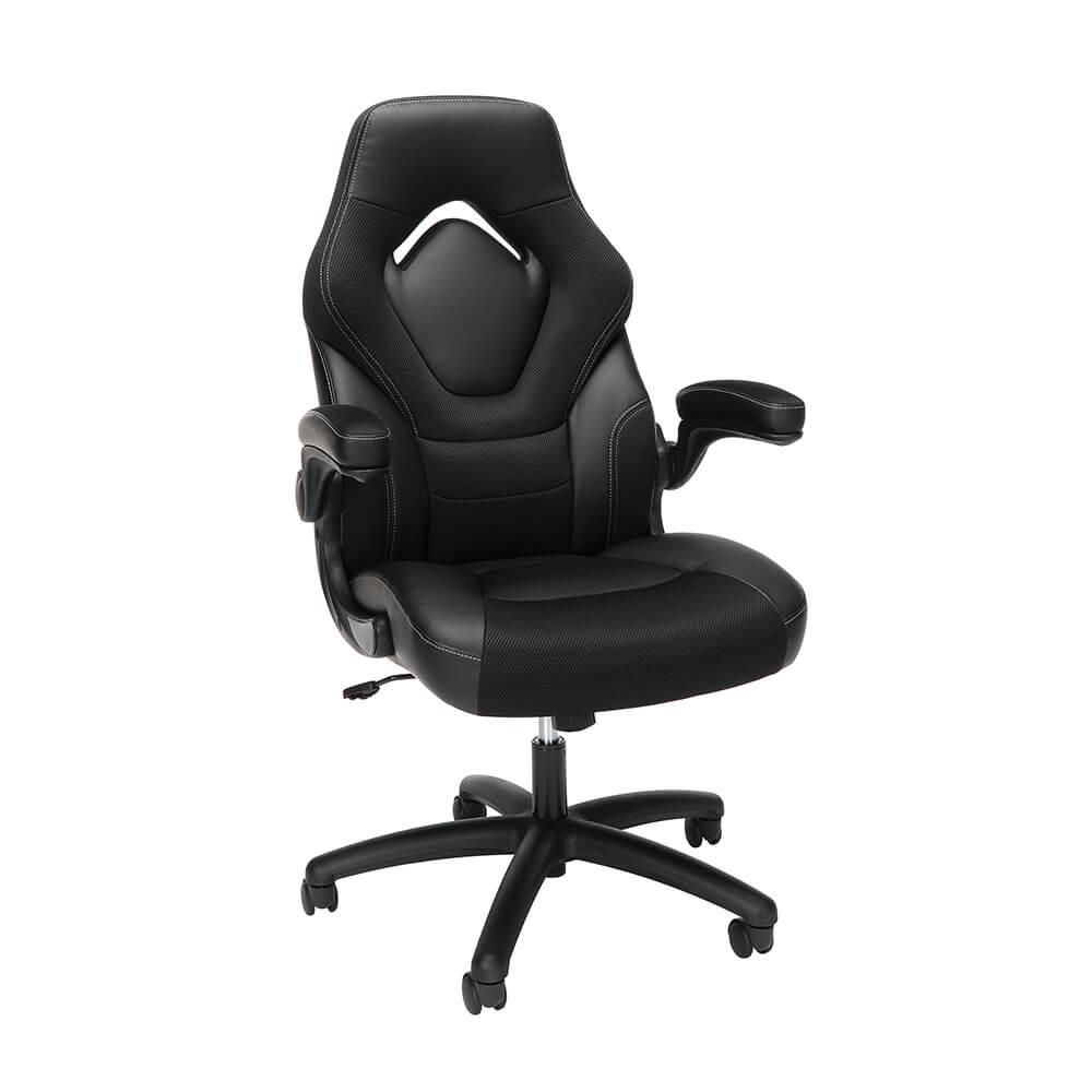 OFM ESS3085V2BLK Essentials Collection Racing Style Gaming Chair - Black