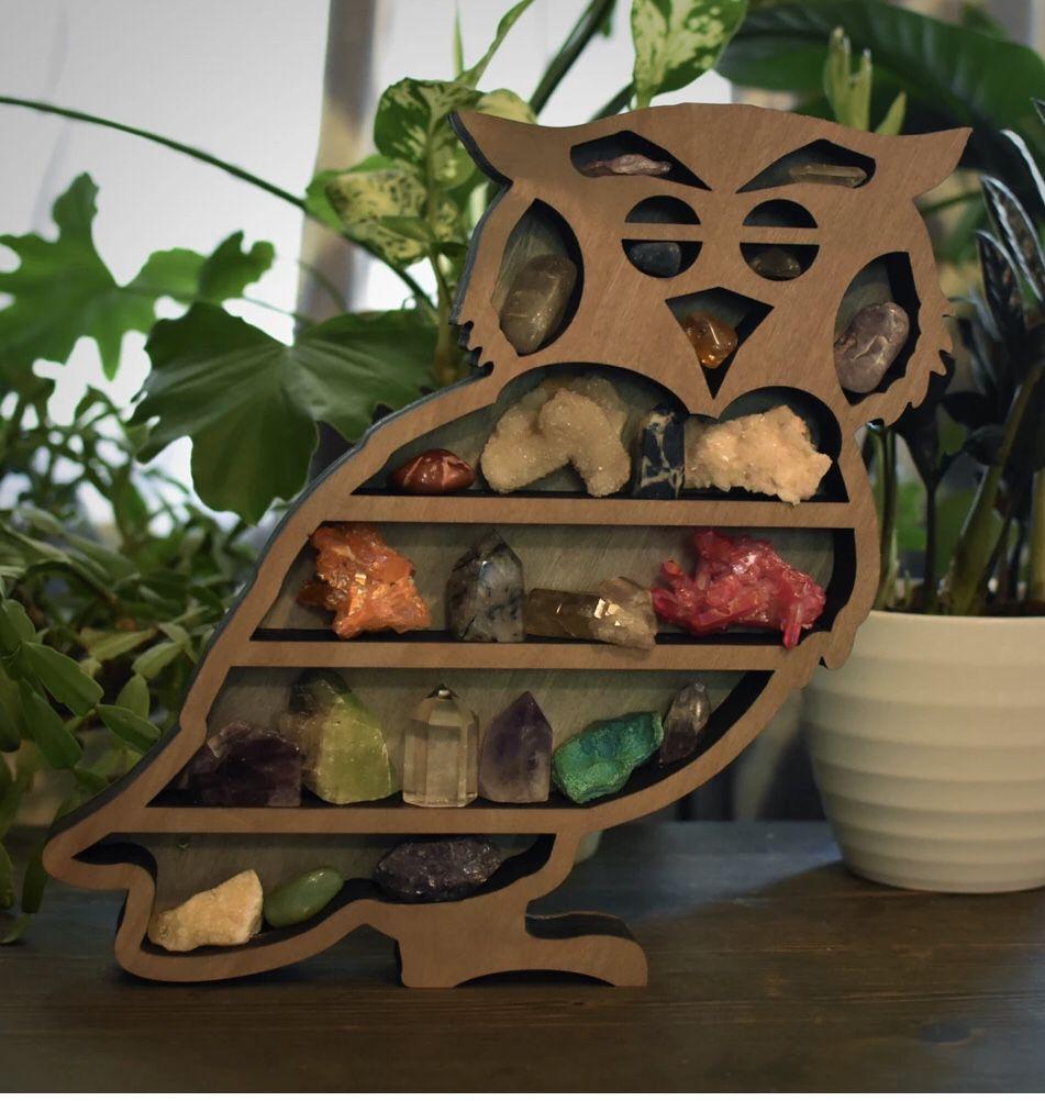 Unique Owl Shelf (for small treasures/crystals)