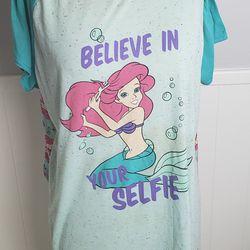 Disney Little Mermaid Women Sleepwear Dress Size 2XL Thumbnail
