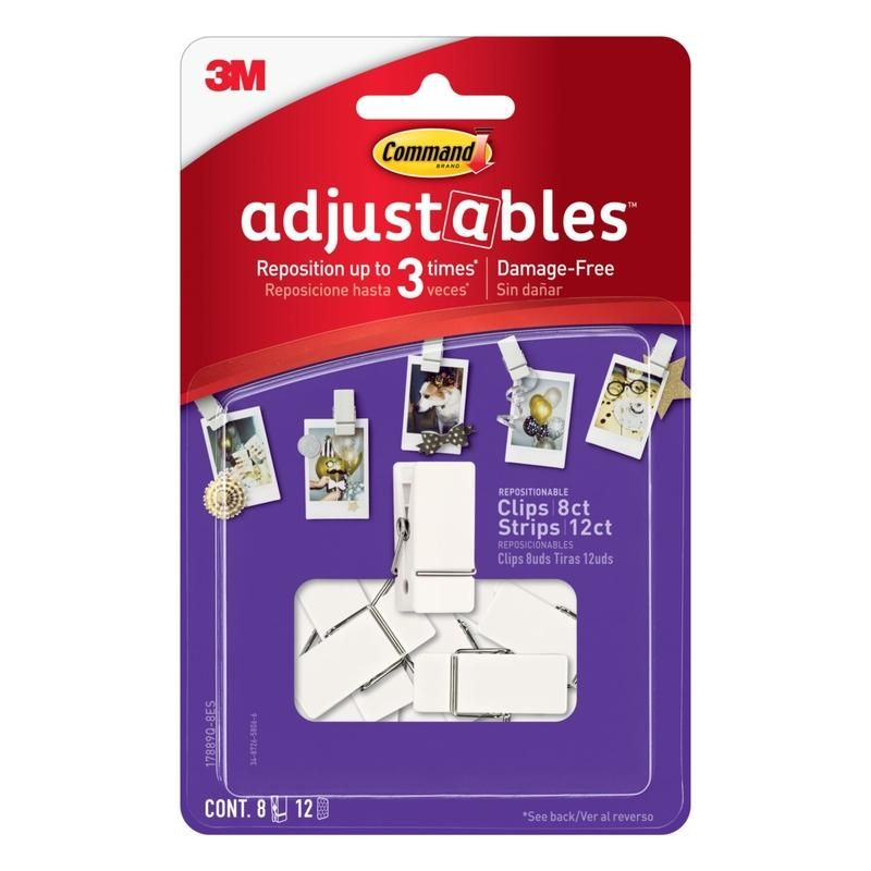 3M Command adjustable Picture Hanging Strips 1 ounce 20 - Case Of: 1