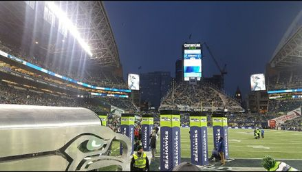 Seattle Seahawks vs DETROIT LIONS 3 & 4 ROWS FROM THE FIELD  Thumbnail