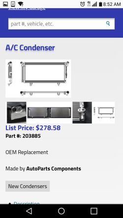 AC condenser for a Subaru Outback and Legacy Thumbnail