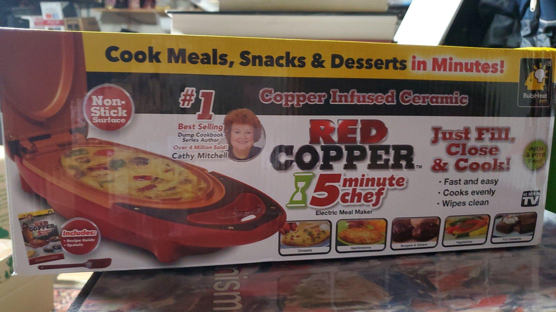 Red copper ceramic chef