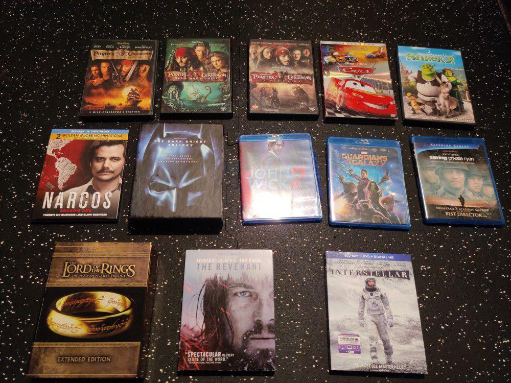 Blu ray DVD movies tv shows