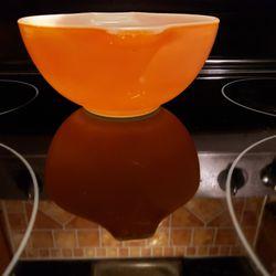 Pyrex small orange bowl.. Thumbnail
