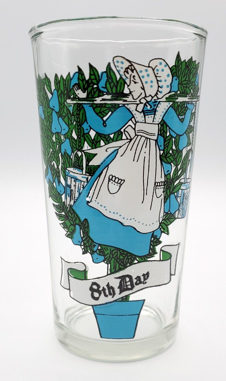 12 Days Of Christmas Tumbler Vintage Original Day 8 Eight Maids A-Milking.