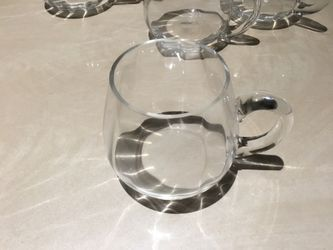 Glass cups set of 6 Thumbnail
