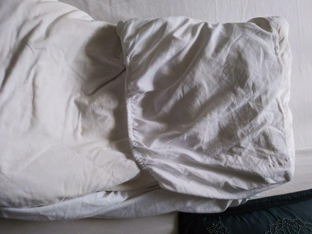 Queen mattress protector, waterproof, brand name in great condition!!