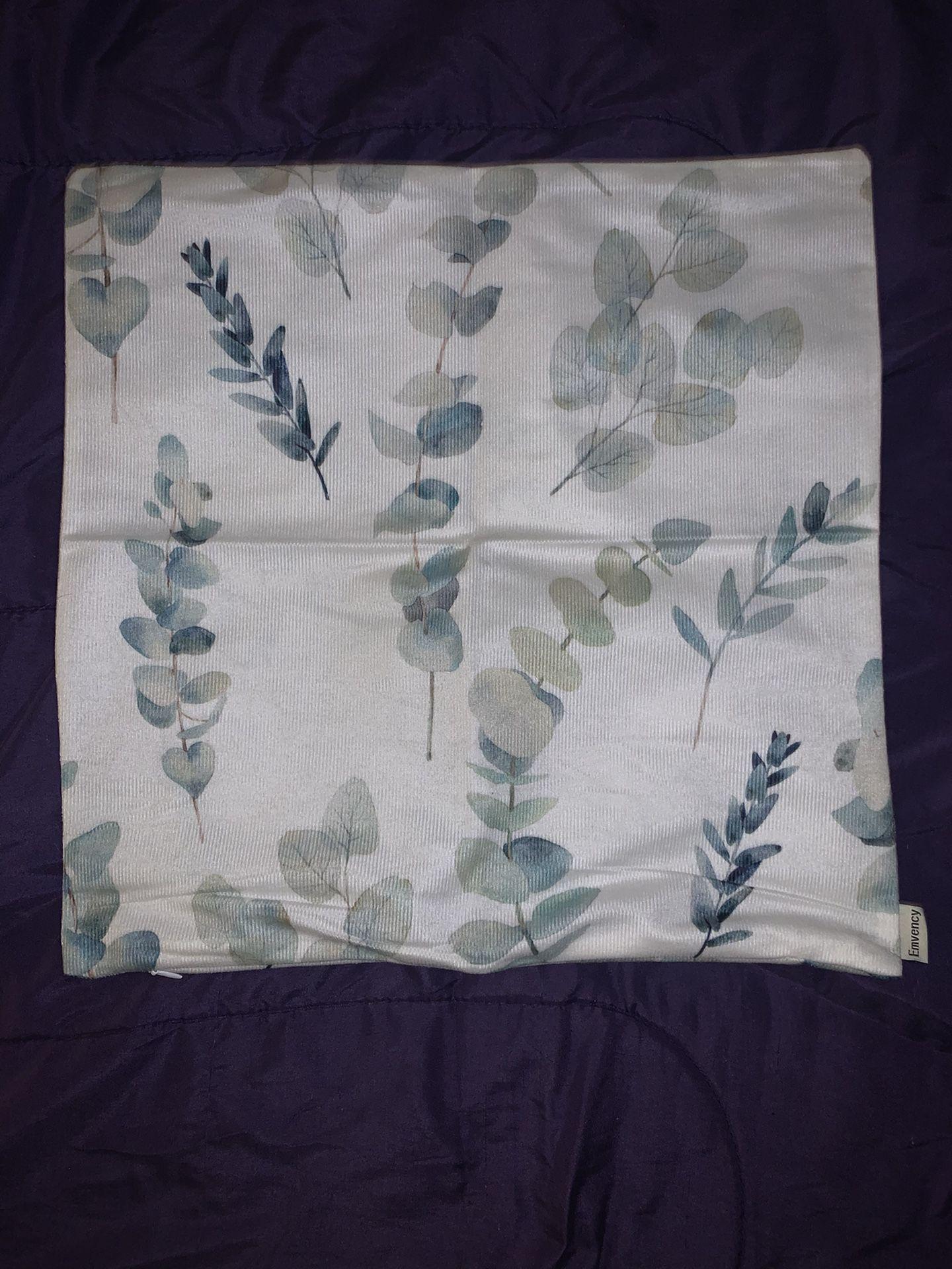Greenery pillow case