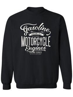 Smartprints Motorcycle Enginers Sweatshirt Men's -Image by Shutterstock Black Size L Thumbnail