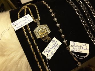 FIGARO Chain & Braclete 34$/Butterfly Anklet 22$/Rope$22 Pendent 26$ Thumbnail