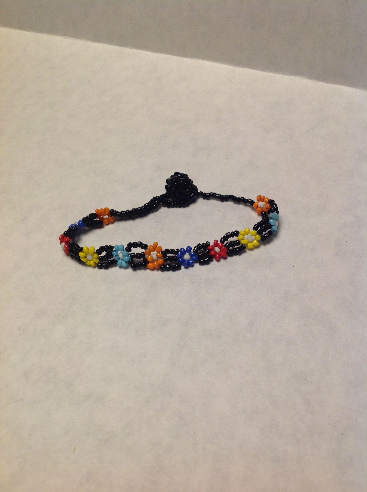 Daisy Beaded Bracelet Or Anklet