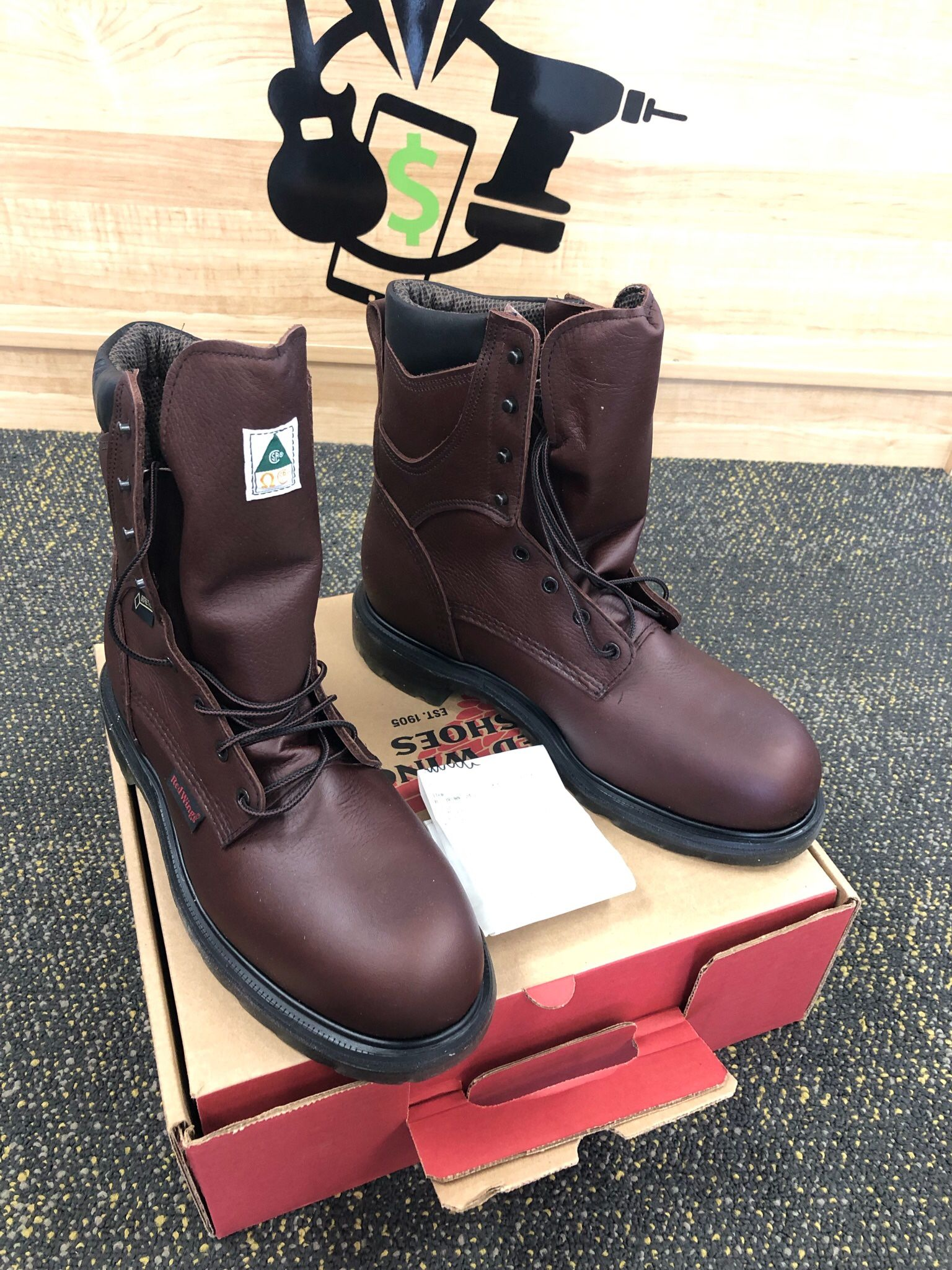 """Red Wing Supersole 2.0 Men's 8"""" Waterproof Safety Toe Work Boots"""