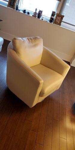 Leather Chair & Ottoman Thumbnail