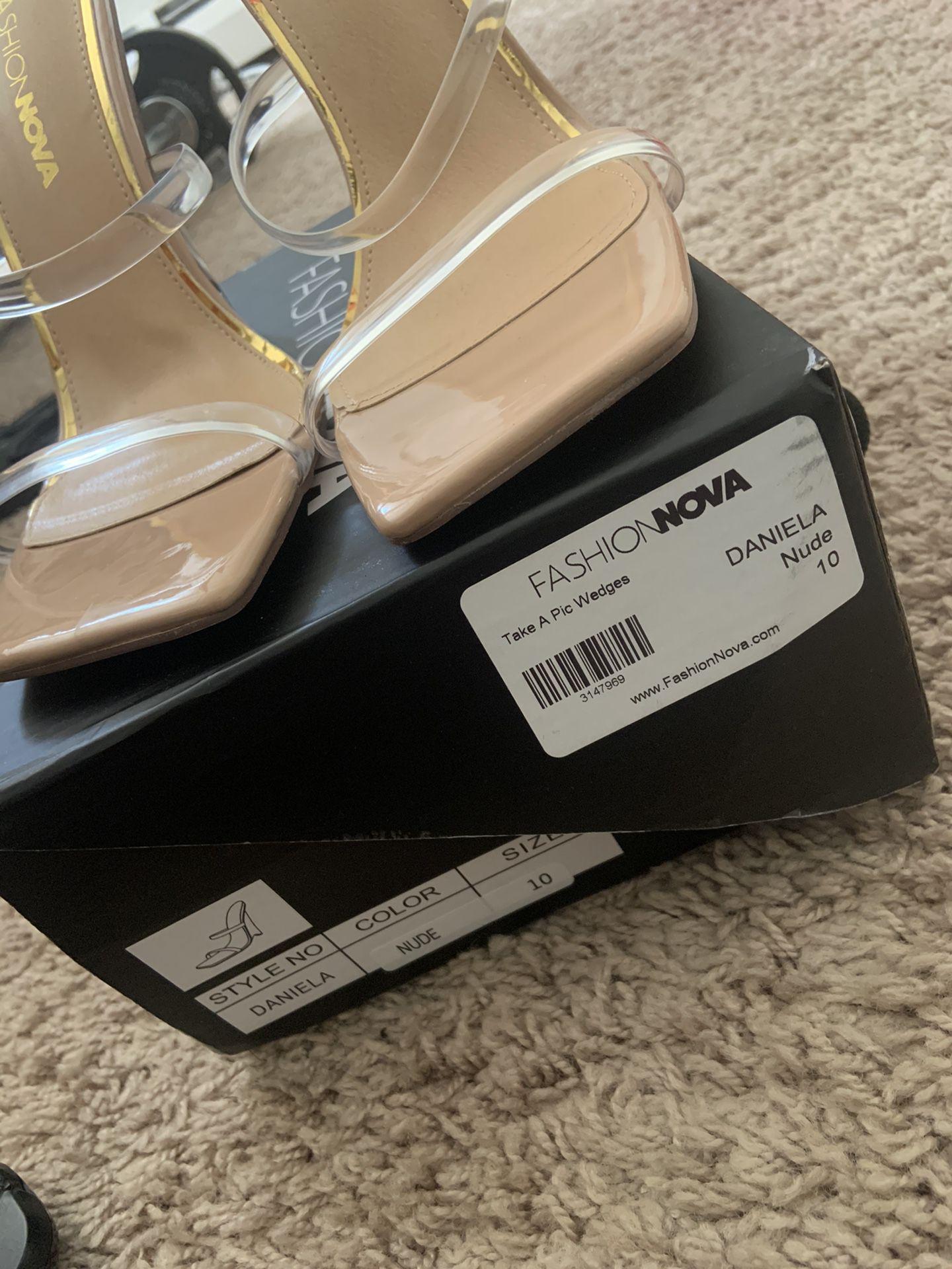 Fashion Nova Sandal Wedge Heel