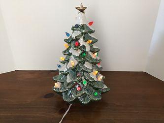 Vtg . Ceramic Christmas Tree  Thumbnail