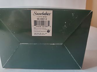 """Department 56 Snowbabies """"I LOVE MOM"""" Figurine w Box 2002 never displayed or removed from box.   Loc gb2 Thumbnail"""