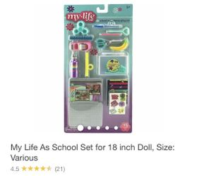 My Life School Set For 18 Inch Doll Size  Thumbnail