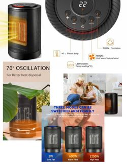 Brand New Black Electric Portable Space Heater  Thumbnail