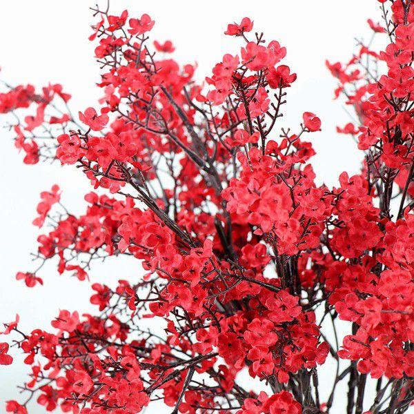 Cloth Artificial Flowers 6 Bundle European, Color: Red-6pcs