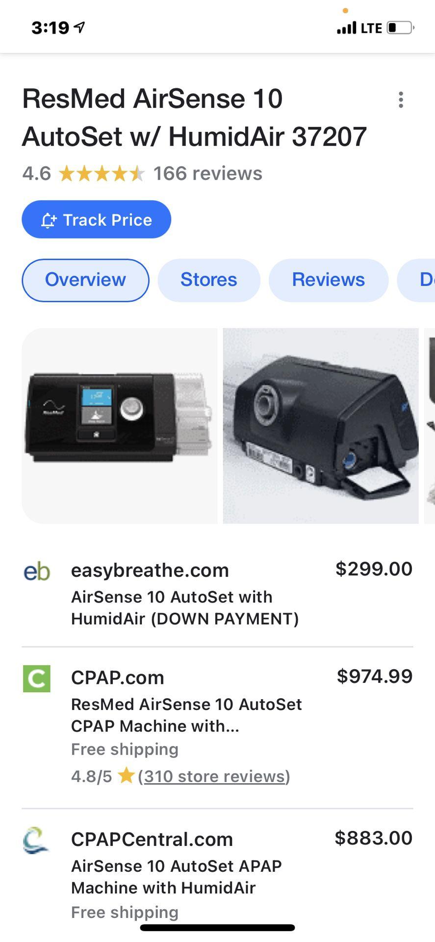 BRAND NEW Resmed 10 Airsense Auto Cpap Sleep Apnea Machine Ina Sealed Box.
