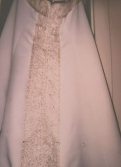 Gorgeous Beige And Gold Wedding Dress Thumbnail